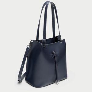 Zara basic bag with long detachable strap nwt
